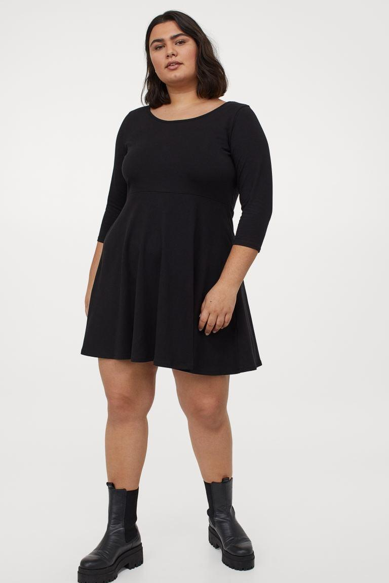 <p>This <span>H&amp;M+ Short Jersey Dress</span> ($25) will never go out of style.</p>
