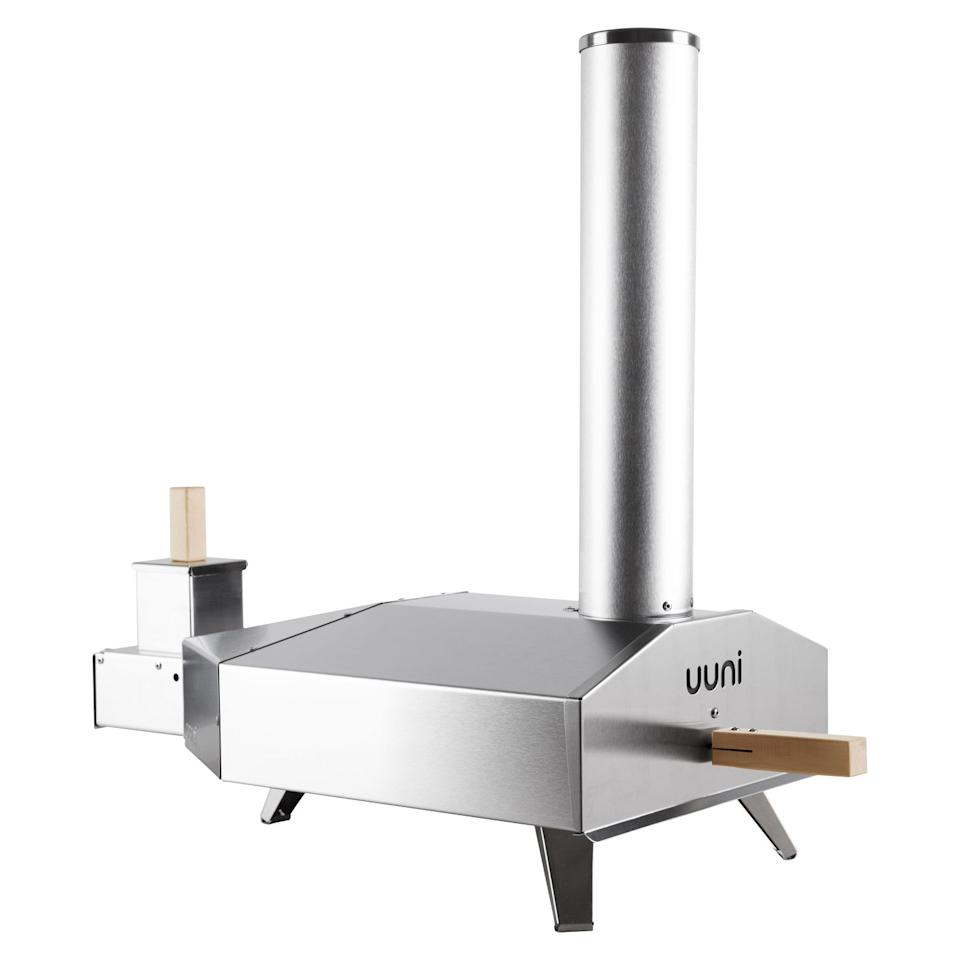 """<p>Pizza lovers listen up! The Uuni 3 Outdoor Pizza Oven consists of a wood pellet burner, wood-fired oven and cordierite stone baking board. And it can cook a wood-fired, stone-baked Neapolitan pizza in just 60 seconds.</p><p><strong>£199, John Lewis</strong> <a rel=""""nofollow"""" href=""""https://www.johnlewis.com/uuni-3-outdoor-pizza-oven/p3172055"""">BUY NOW</a></p>"""