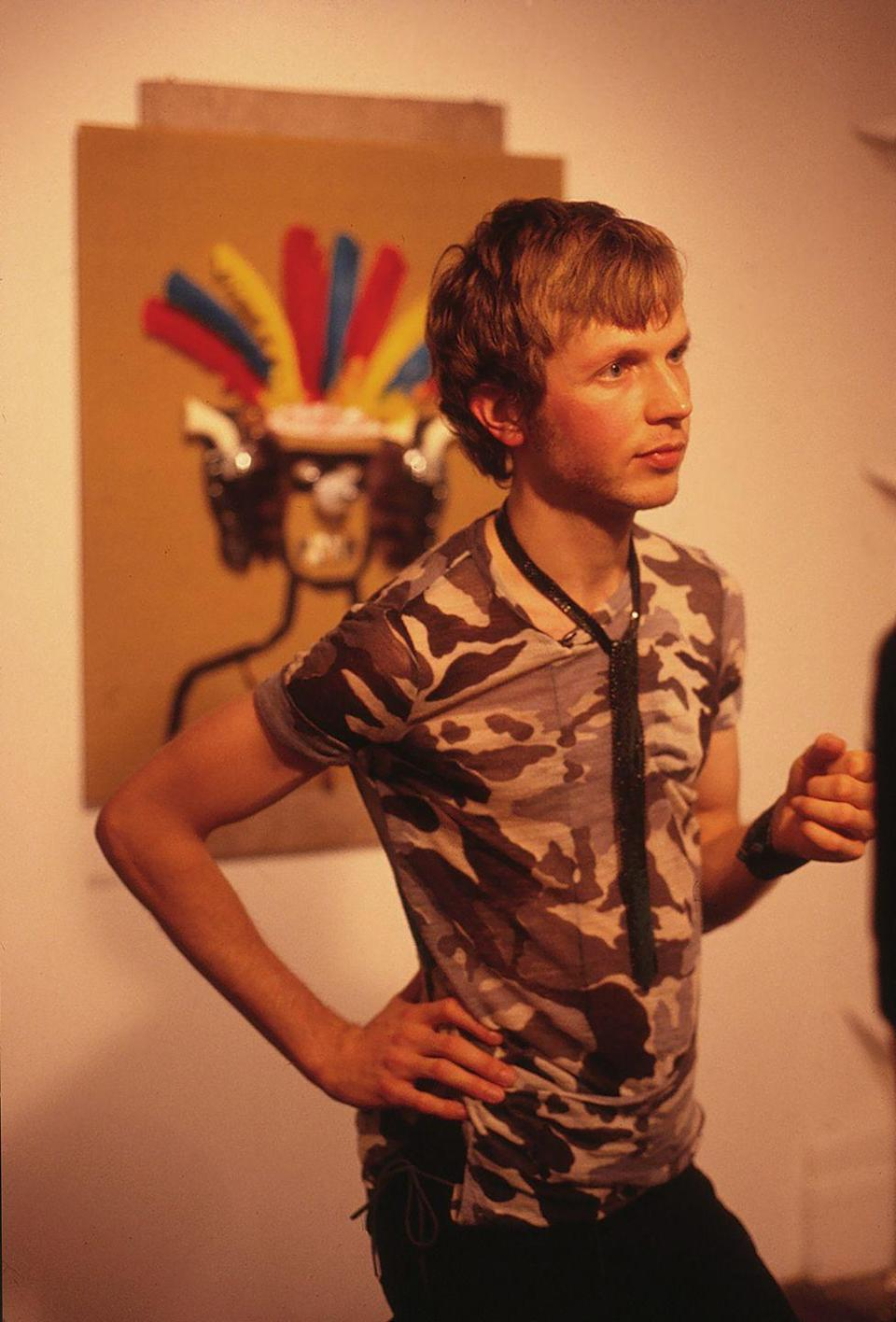 <p>Beck at the opening of an art show in New York City in 1998. </p>