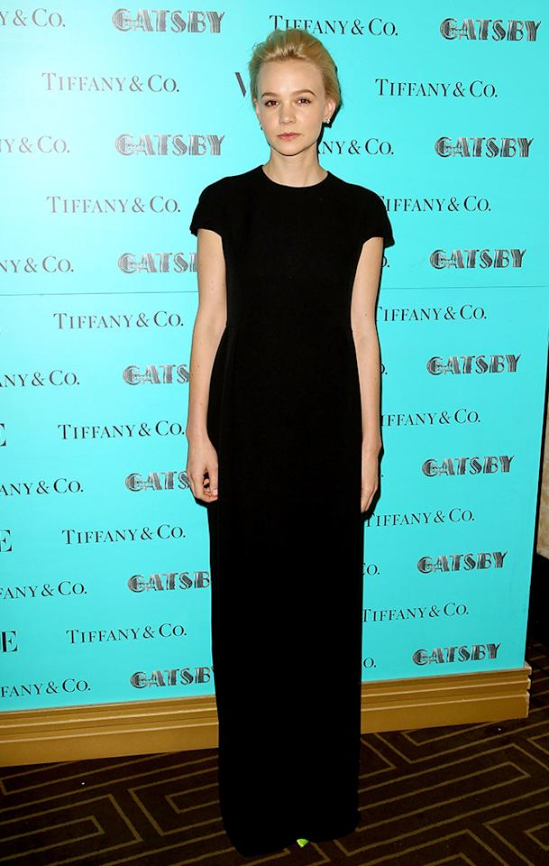 SYDNEY, AUSTRALIA - MAY 23: Carey Mulligan arrives at the Tiffany & Co Great Gatsby dinner at Rockpool on May 23, 2013 in Sydney, Australia.  (Photo by Don Arnold/WireImage)