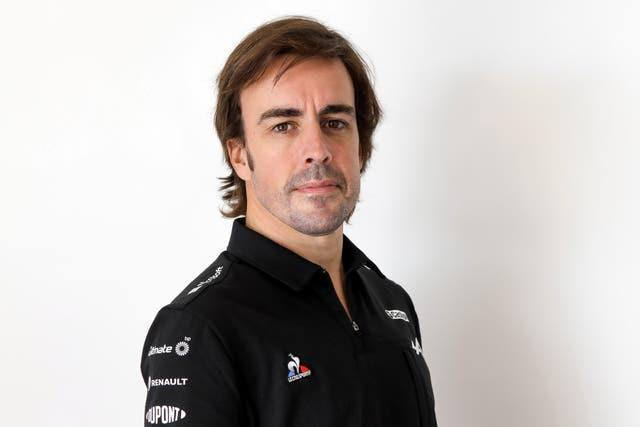 Fernando Alonso during the Alpine launch