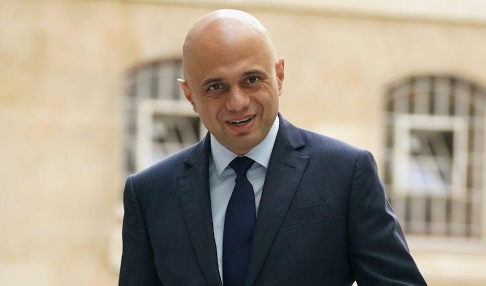 Sajid Javid said on Sunday that plans to introduce vaccine passports, requiring members of the public to show proof of double-vaccine status, will be scrapped. (PA Wire)