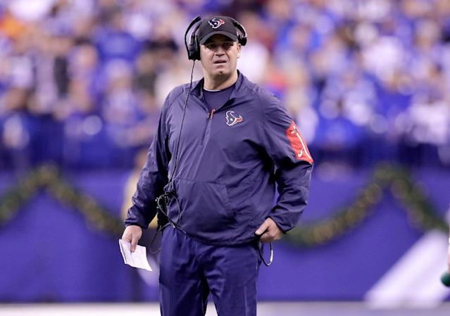 Bill O'Brien the head coach of the Houston Texans admits his side is up for a challenge in facing the new England Patriots (AFP Photo/ANDY LYONS)