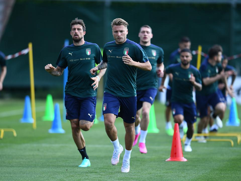 Ciro Immobile and Italy are the heavy favorites to win Group A. (Photo by Claudio Villa/Getty Images)