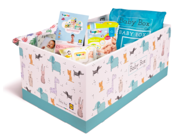 The Baby Boxes are free to new parents who complete an online parenting course [Photo: Lidl]