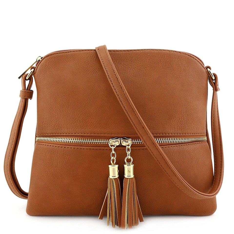<p>This <span>Deluxity Lightweight Medium Crossbody Bag</span> ($17) is an Amazon bestseller and comes in many different colors.</p>