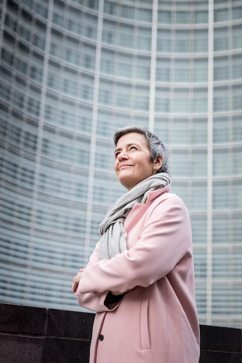 Margrethe Vestager, head of the European Commission's antitrust division, in Brussels on Nov. 11, 2019. (Ans Brys/The New York Times)