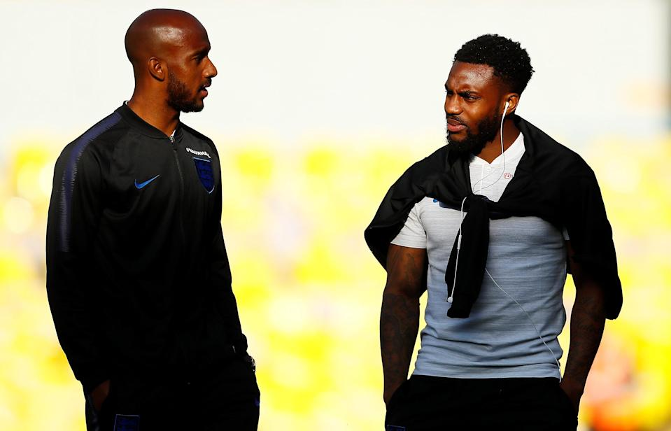 <p>That's Fabien Delph and Danny Rose in their Leeds days. </p>