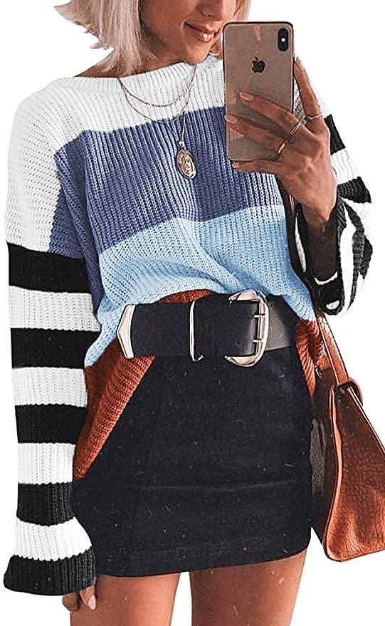 "<p>This <a href=""https://www.popsugar.com/buy/Cordat-Casual-Colorblock-Oversize-Sweater-502695?p_name=Cordat%20Casual%20Colorblock%20Oversize%20Sweater&retailer=amazon.com&pid=502695&price=22&evar1=fab%3Aus&evar9=46828287&evar98=https%3A%2F%2Fwww.popsugar.com%2Fphoto-gallery%2F46828287%2Fimage%2F46828462%2FCordat-Casual-Colorblock-Oversize-Sweater&list1=shopping%2Cfall%20fashion%2Camazon%2Cwinter%20fashion&prop13=api&pdata=1"" rel=""nofollow"" data-shoppable-link=""1"" target=""_blank"" class=""ga-track"" data-ga-category=""Related"" data-ga-label=""https://www.amazon.com/dp/B07WP35SDH/ref=tsm_1_ig_s_fshn_cloifsweater10102019?utm_campaign=likeshopme&amp;utm_medium=instagram&amp;utm_source=dash%2Bhudson&amp;utm_content=www.instagram.com%2Fp%2FB3dSATABYZZ%2F&amp;th=1&amp;psc=1"" data-ga-action=""In-Line Links"">Cordat Casual Colorblock Oversize Sweater</a> ($22) has gone viral - customers are obsessed.</p>"