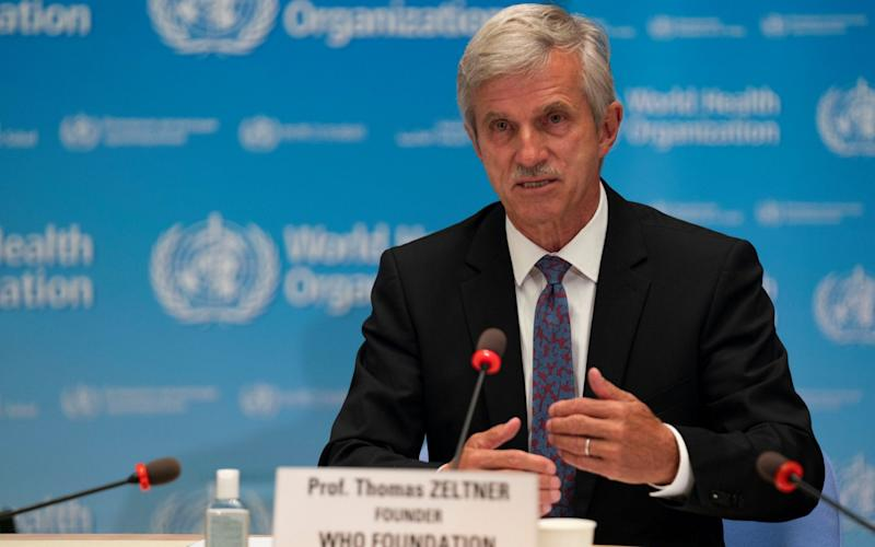 Thomas Zeltner founder of the WHO Foundation attends the signing of the memorandum of understanding between World Health Organization (WHO) and the WHO Foundation in Geneva, Switzerland - CHRISTOPHER BLACK/WHO/REUTERS