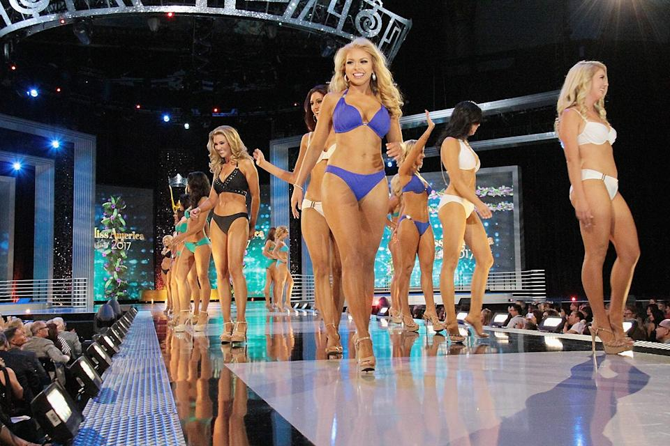 Miss America 2017 had something that won't be seen during this year's competition on Sunday: the swimsuit portion. (Photo: Donald Kravitz/Getty Images)