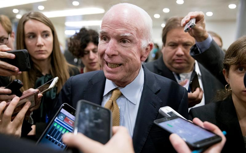 John McCain to miss key tax vote because of infection - EPA