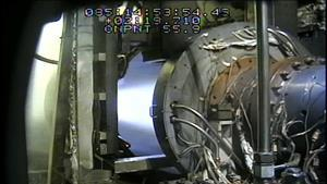 Aerojet Rocketdyne completes a successful series of hot-fire tests of an advanced air-breathing hypersonic engine under the USAF's MSCC program. Some of the camera titling has been removed for a clearer image.