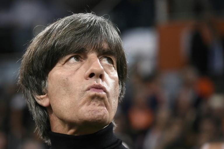 Germany's head coach Joachim Loew is under intense pressure