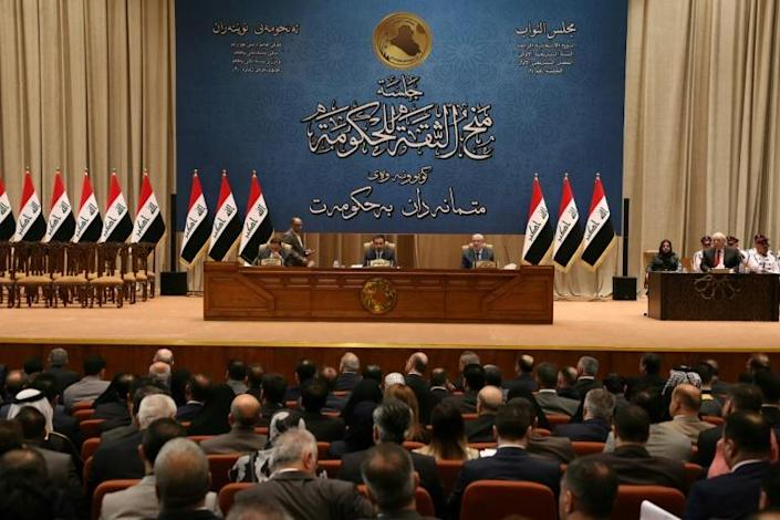 Iraq's parliament will meet on Sunday, with many lawmakers pushing for a vote demanding that US troops leave the country (AFP Photo/STR)