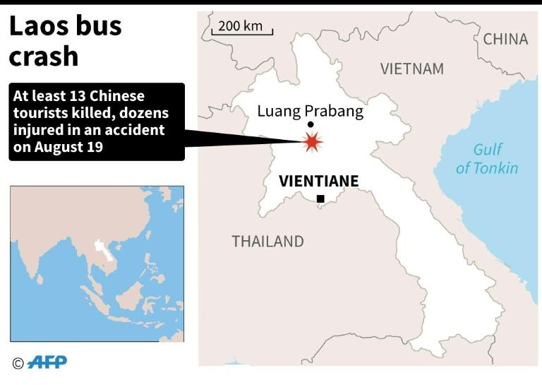 Laos bus crash