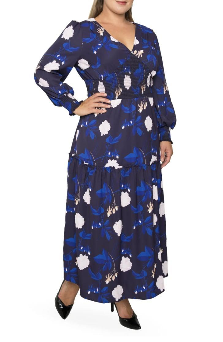 <p>This <span>Standards &amp; Practices Floral Smock Waist Long Sleeve Georgette Maxi Dress</span> ($138) will add a pep in your step. Wear it to the office.</p>