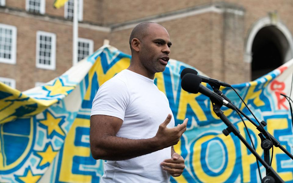 The mayor of Bristol Marvin Rees pictured here speaking at a different demonstration outside City Hall in 2016. (Photo: Matt Cardy via Getty Images)