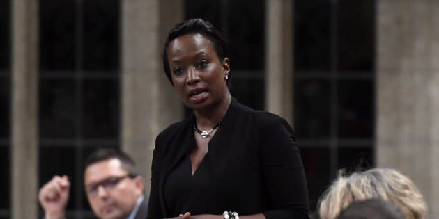 Celina Caesar-Chavannes speaks in the House of Commons on May 25, 2018.