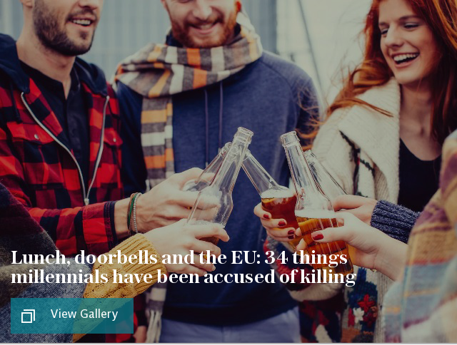 Lunch, doorbells and the EU: 34 things millennials have been accused of killing