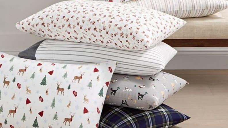 The Martha Stewart Flannel Sheet Collection features a variety of whimsical patterns and designs.
