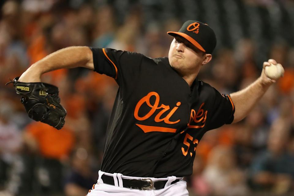 Orioles closer Zach Britton is in the AL Cy Young race thanks to his 0.59 ERA. (Getty)