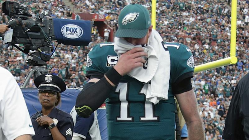 Road to Super Bowl hits speed bump as Eagles sweat on Wentz fitness