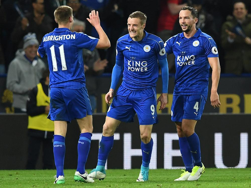 Jamie Vardy extended his rich vein of form as the champions' resurgence continued: Getty