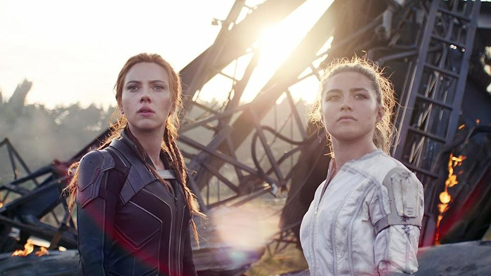 """Johansson and Pugh in """"Black Widow"""" - Credit: Courtesy of Disney/Everett Collection"""