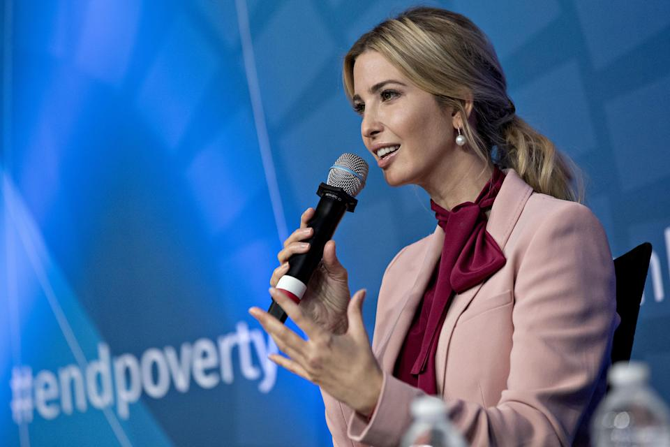 Ivanka Trump's tweet to promote healthier living for children wasn't well received. (Photo: Getty Images)