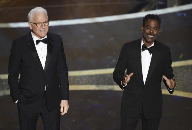 Steve Martin and Chris Rock at the 92nd Oscars (Credit: AP Photo/Chris Pizzello)