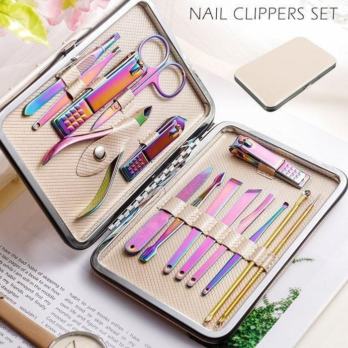 <p>Give yourself the best mani and pedi with this <span>Willstar 15 In 1 Manicure Pedicure Set Nail Clippers</span> ($10, originally $20).</p>