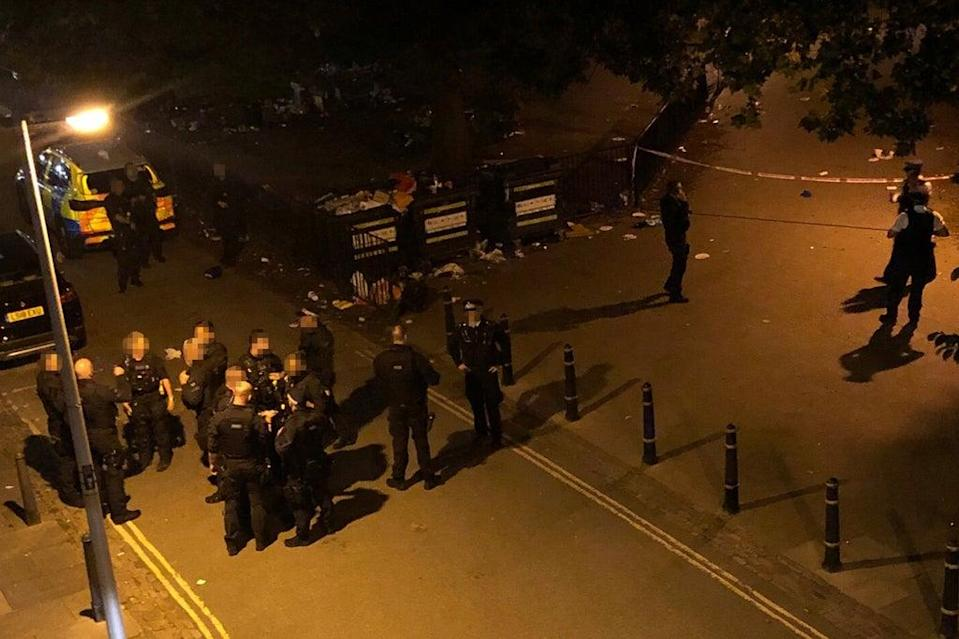 Firearms officers were called to Clarence Gardens in Camden (Anonymous)