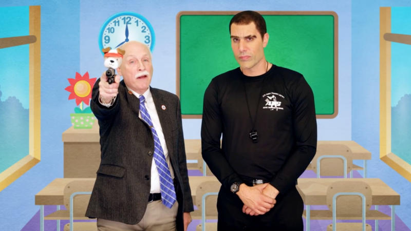 Sacha Baron Cohen as Israeli weapons expert Erran Morad in 'Who Is America?'. (Credit: Showtime/Channel 4)