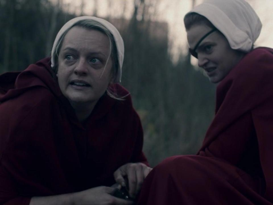 Elisabeth Moss and Madeline Brewer in The Handmaid's Tale season four episode four (Hulu)