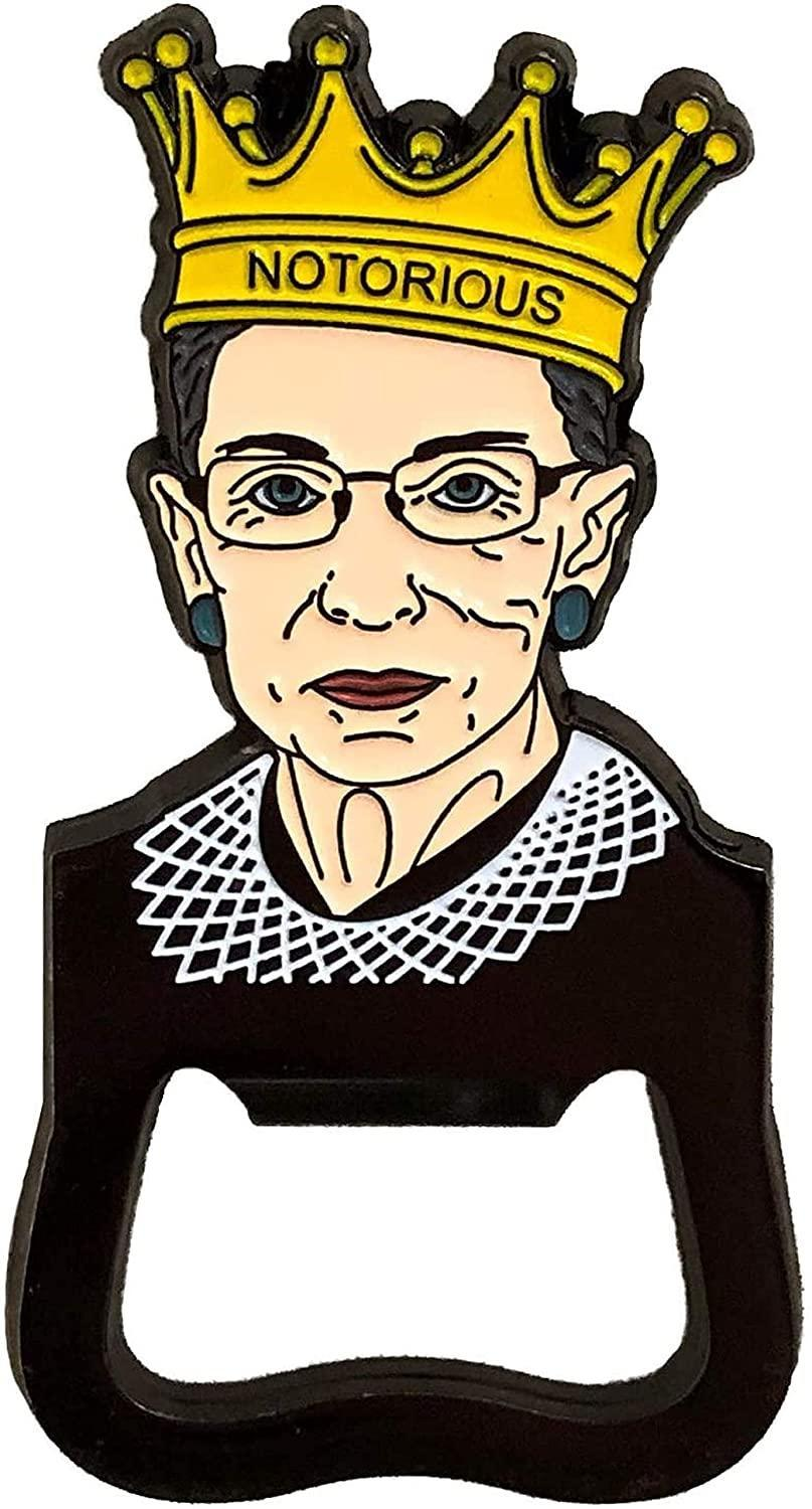"""<h3>Balanced Co. Ruth Bader Ginsburg Notorious RBG Bottle Opener</h3><br>Let their love for RBG be immortalized on this notorious bottle opener. <br><br><strong>Balanced Co.</strong> Ruth Bader Ginsburg Notorious RBG Bottle Opener, $, available at <a href=""""https://amzn.to/3qkQIA0"""" rel=""""nofollow noopener"""" target=""""_blank"""" data-ylk=""""slk:Amazon"""" class=""""link rapid-noclick-resp"""">Amazon</a>"""
