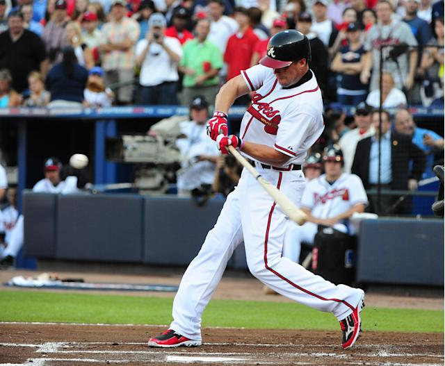 Chipper Jones' sweet swing carried the Braves deep into Octobers. (Getty)