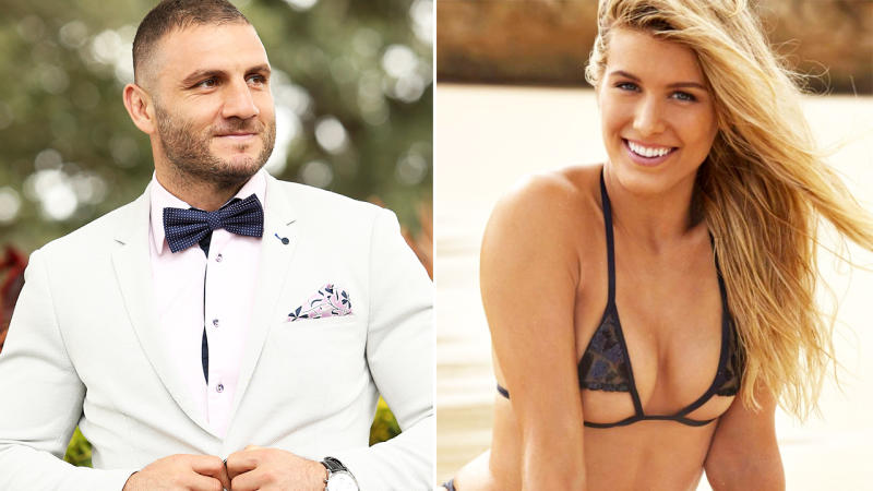 Robbie Farah and Eugenie Bouchard, pictured here in 2019.