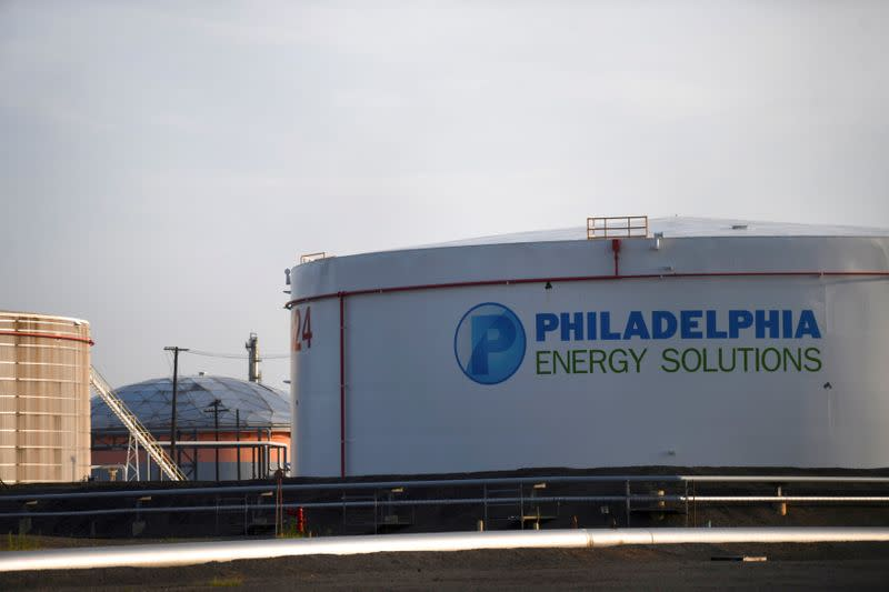 FILE PHOTO: The Philadelphia Energy Solutions plant refinery is seen in Philadelphia