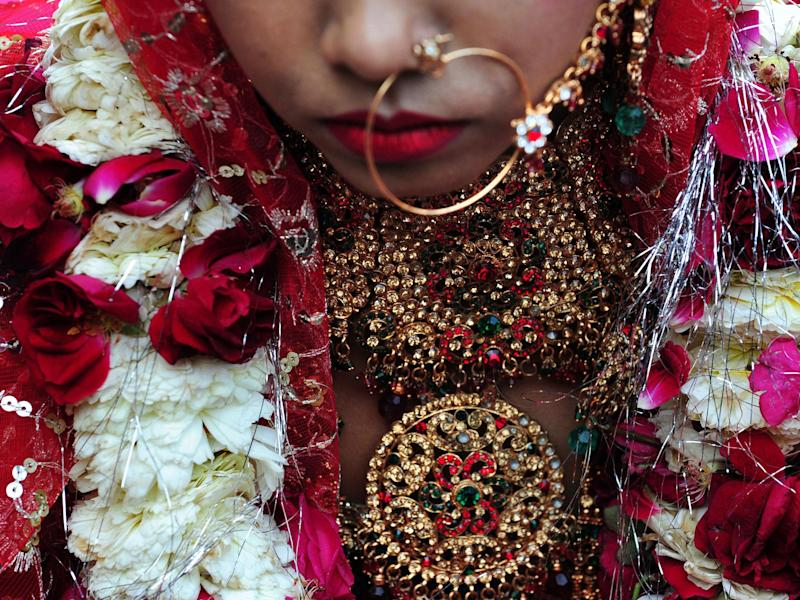 An Indian bride (file photo): ROBERTO SCHMIDT/AFP/Getty Images