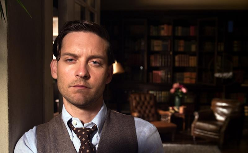 "This film publicity image released by Warner Bros. Pictures shows Tobey Maguire as Nick Carraway in a scene from ""The Great Gatsby."" (AP Photo/Warner Bros. Pictures)"