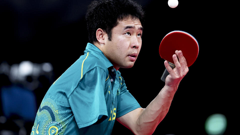 Lin Ma, pictured here in the table tennis men's singles - Class 9 gold medal match.
