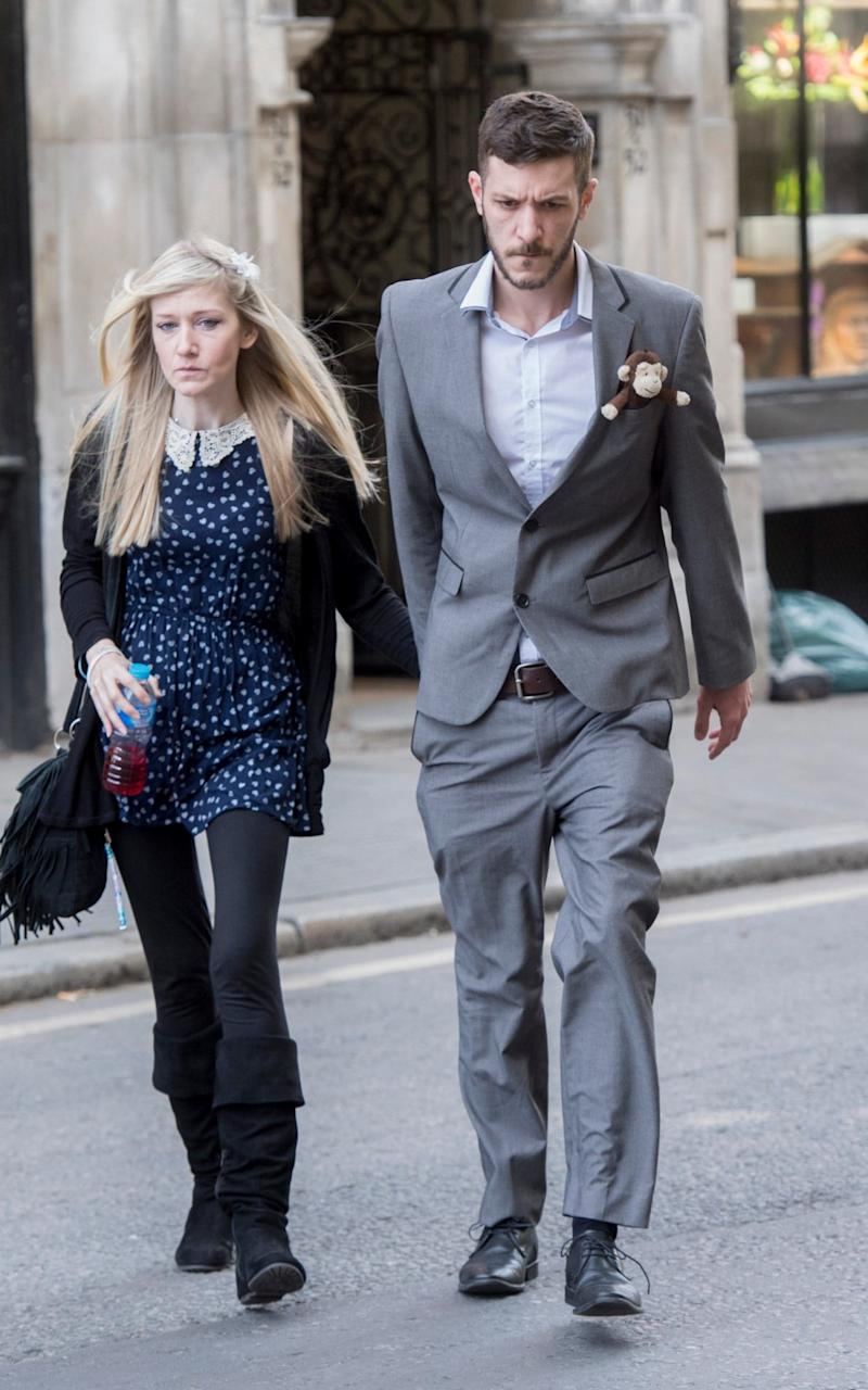 Chris Gard and Connie Yates arrive at High Court - Credit: Paul Grover for the Telegraph