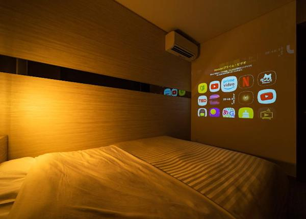 Theater room installation by projector with integrated ceiling light (6 rooms)