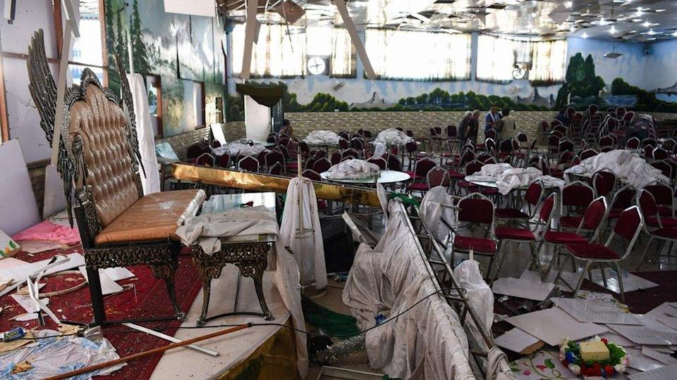 Wedding hall in Kabul after the blast. Photo: 2019