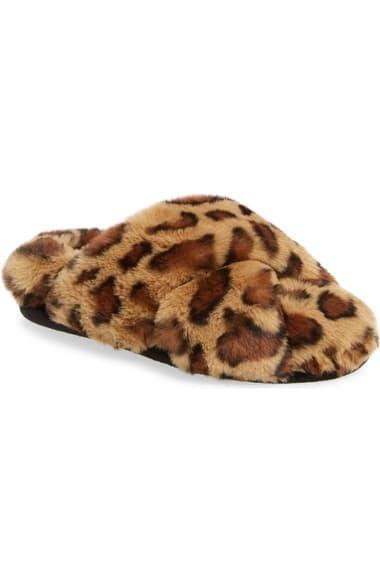 <p><span>BP. Sophie Criss Cross Plush Bedroom Slipper</span> ($20, originally $30)</p>