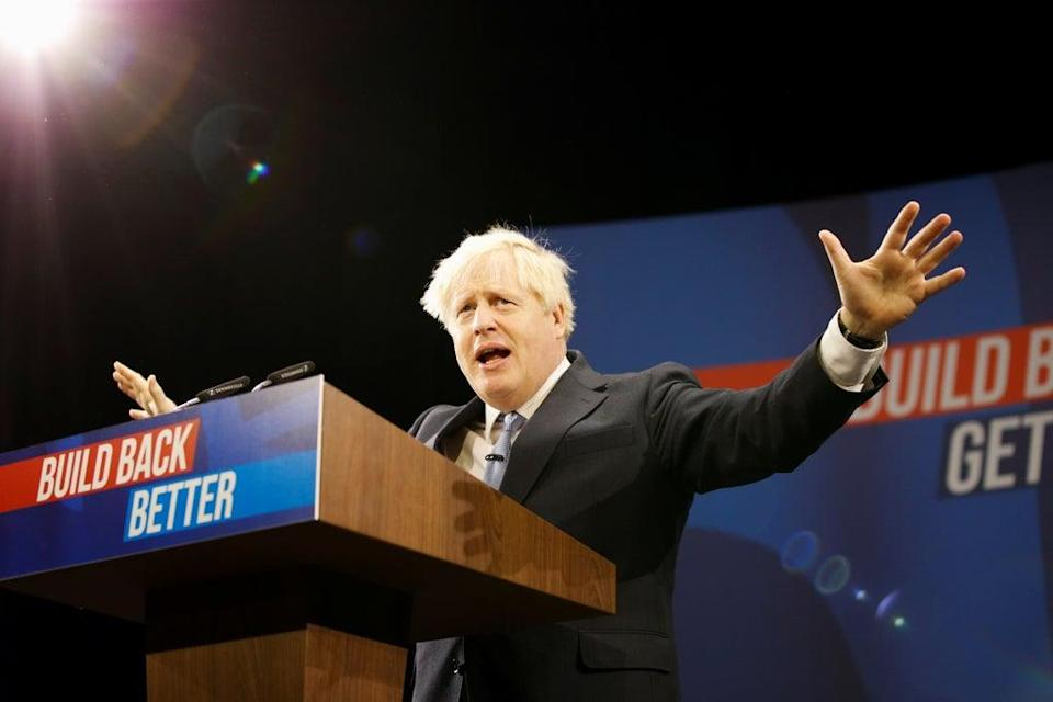 Boris Johnson at the Conservative Party Conference  (REUTERS)