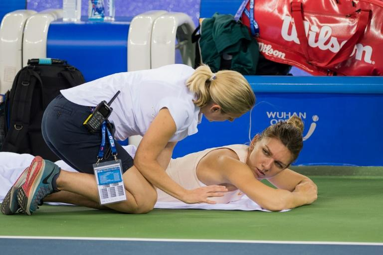 World number one Simona Halep injured her back during the Wuhan Open