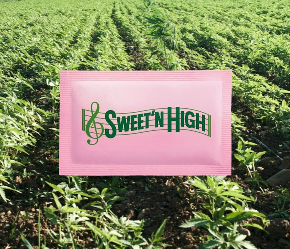 """<p>Add a little extra kick to your coffee with Sweet'N Lows THC Infused sweetener. """"Sprinkle on cereal, use in your favorite beverage or enjoy straight from the packet. Also great for 'bake' sales,"""" the brand joked on Instagram. <br></p>"""