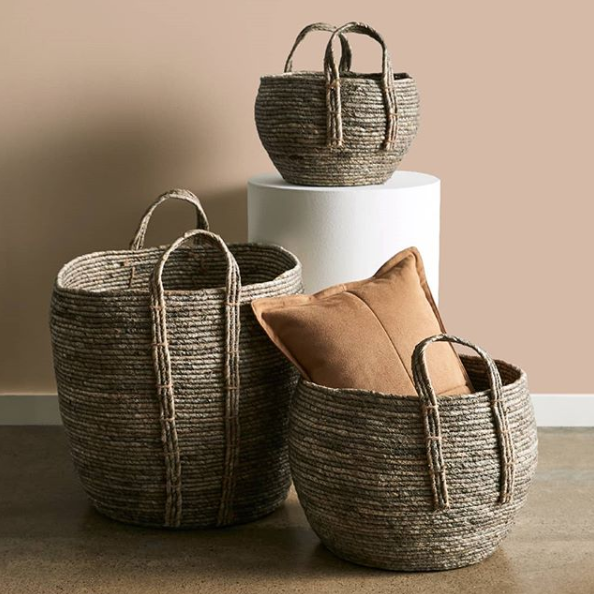 Maize Leaf Round Basket, from $15. Photo: Target.